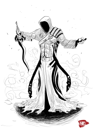 Dark_Sorcerer_lineart